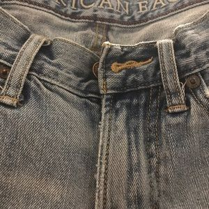 "American Eagle 27X27 jeans! 8"" frayed cuff! Nice!"